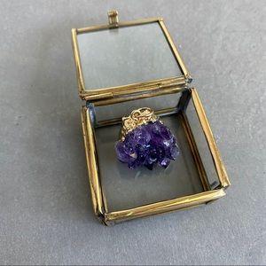 Jewelry - Purple Gemstone Crystal Amethyst Necklace Pendant